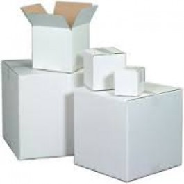 "16"" x 12"" x 8"" White Corrugated Boxes"