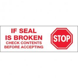 "2"" x 110 yds. - "" Stop  If  Seal  Is  Broken"" Pre- Printed  Carton  Sealing  Tape"