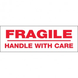 "2"" x 110 yds. - "" Fragile  Handle  With  Care"" (6  Pack) Pre- Printed  Carton  Sealing  Tape"
